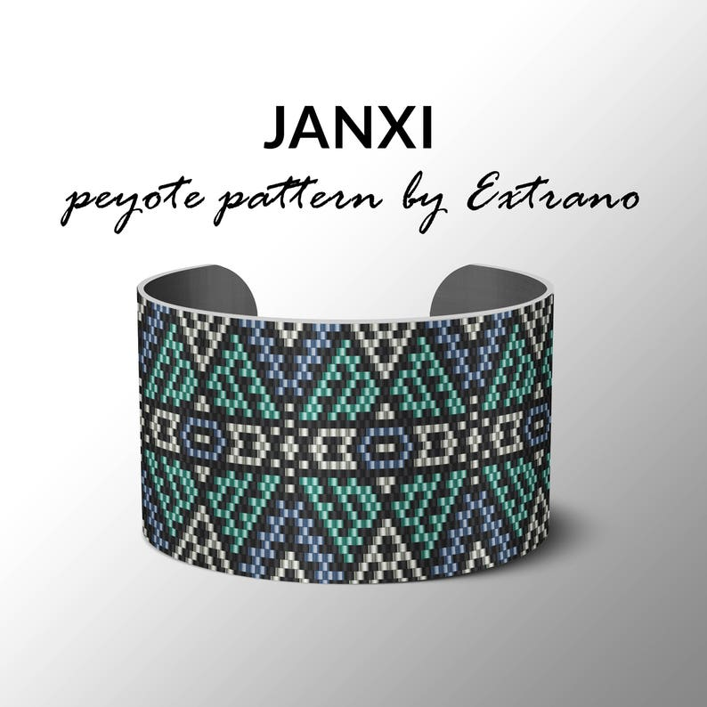 Peyote pattern bracelet uneven pattern even peyote stitch image 0