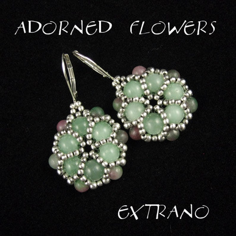 Round earrings tutorial beaded earrings tutorial seed beads image 0