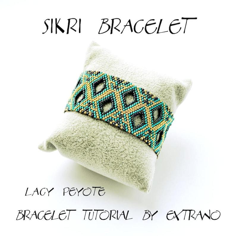 Bracelet tutorial uneven peyote bracelet pattern seed beads image 0