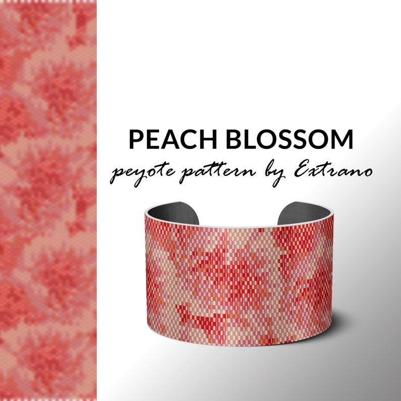 Peyote bracelet patttern beading pattern bead weaving image 0