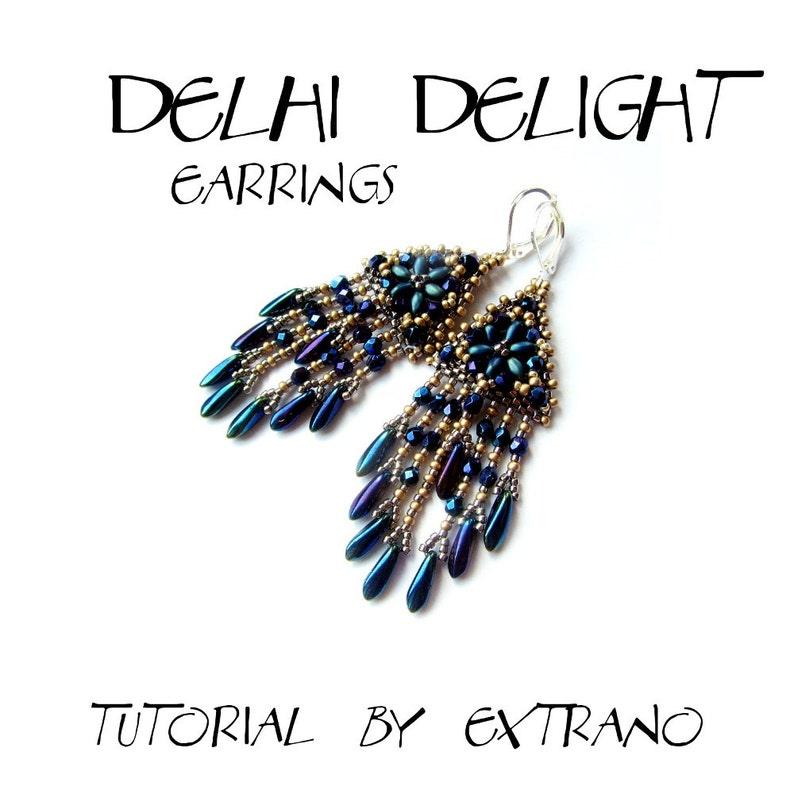 Superduo earrings tutorial long earrings pattern superduo image 0