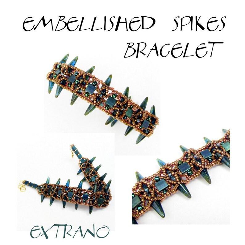 Bracelet tutorial spike beads pattern bracelet pattern image 0