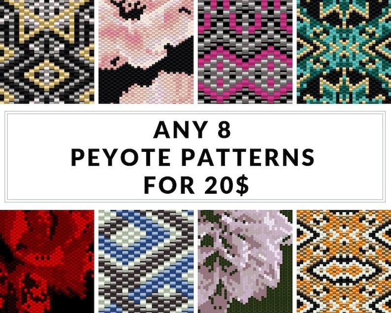Peyote pattern bracelet pattern peyote bracelet even image 0