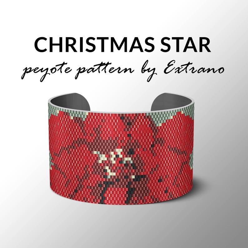Peyote pattern bracelet wide cuff pattern even peyote image 0