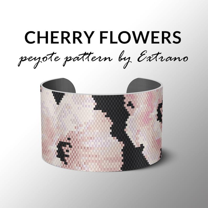 Peyote bracelet pattern bracelet design flower pattern wide image 0