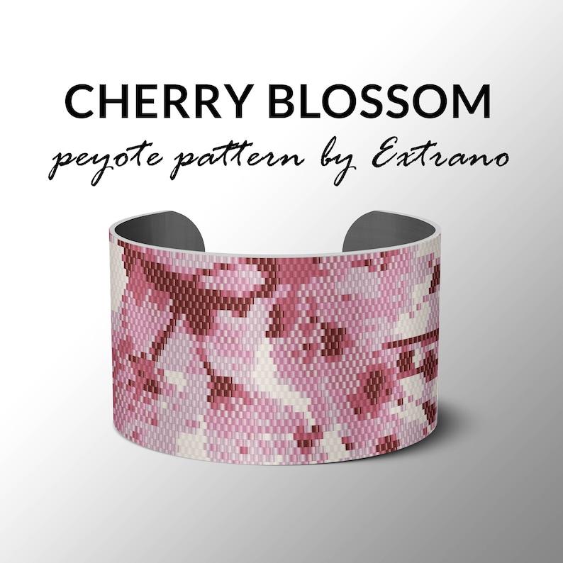 Peyote bracelet pattern wide cuff pattern even peyote image 0