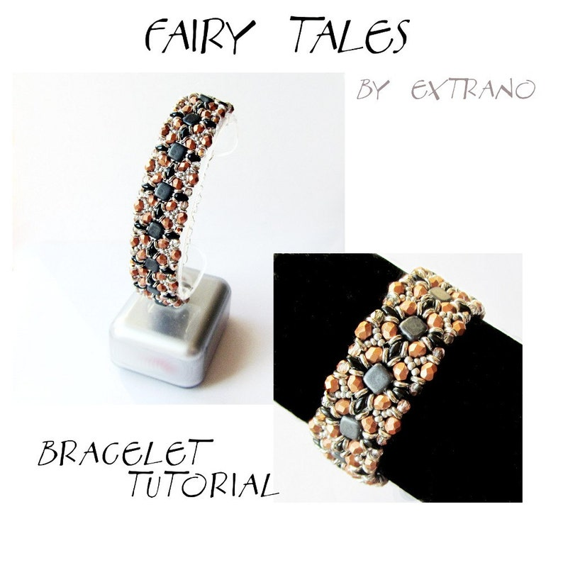 Bracelet tutorial bracelet pattern Tile bracelet O-beads image 0