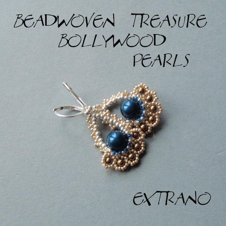 Beaded earrings tutorial fan shaped earrings diy jewelry image 0