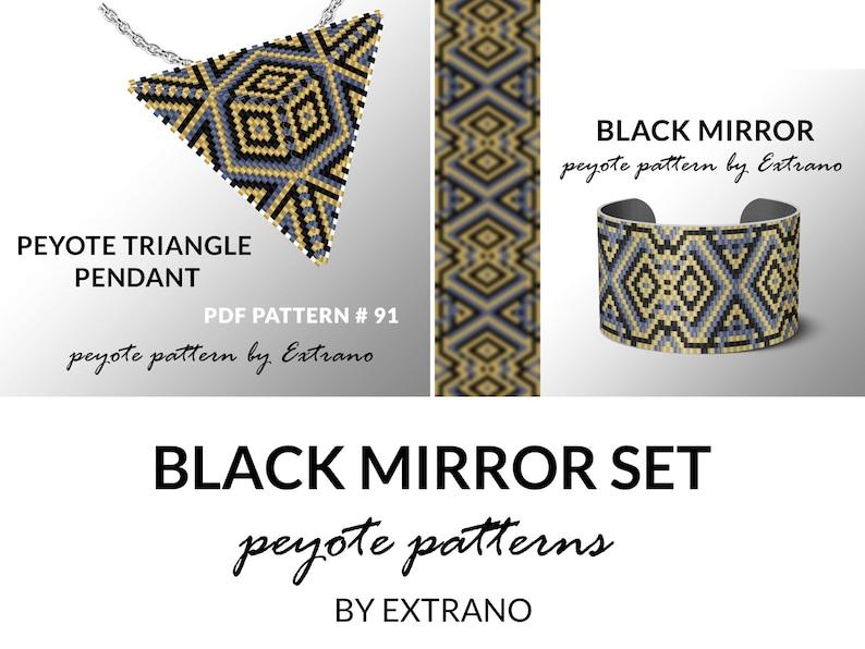Peyote set bracelet with pendant pattern peyote set image 0
