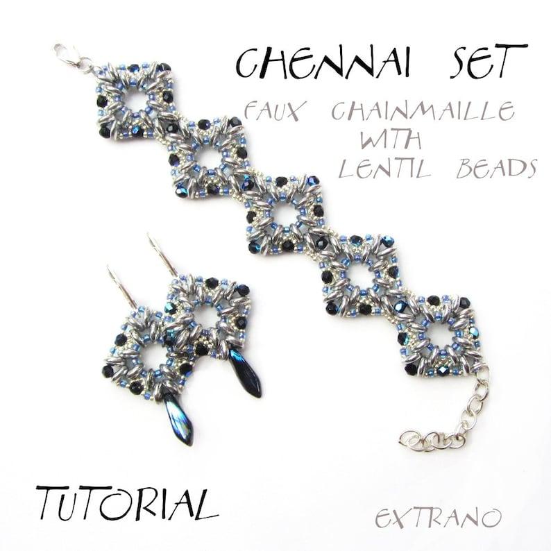 Bracelet tutorial bracelet pattern lentil beads pattern image 0