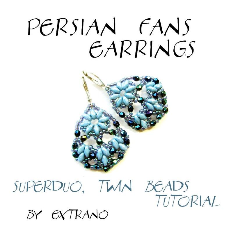 Superduo earrings tutorial earrings pattern superduo image 0
