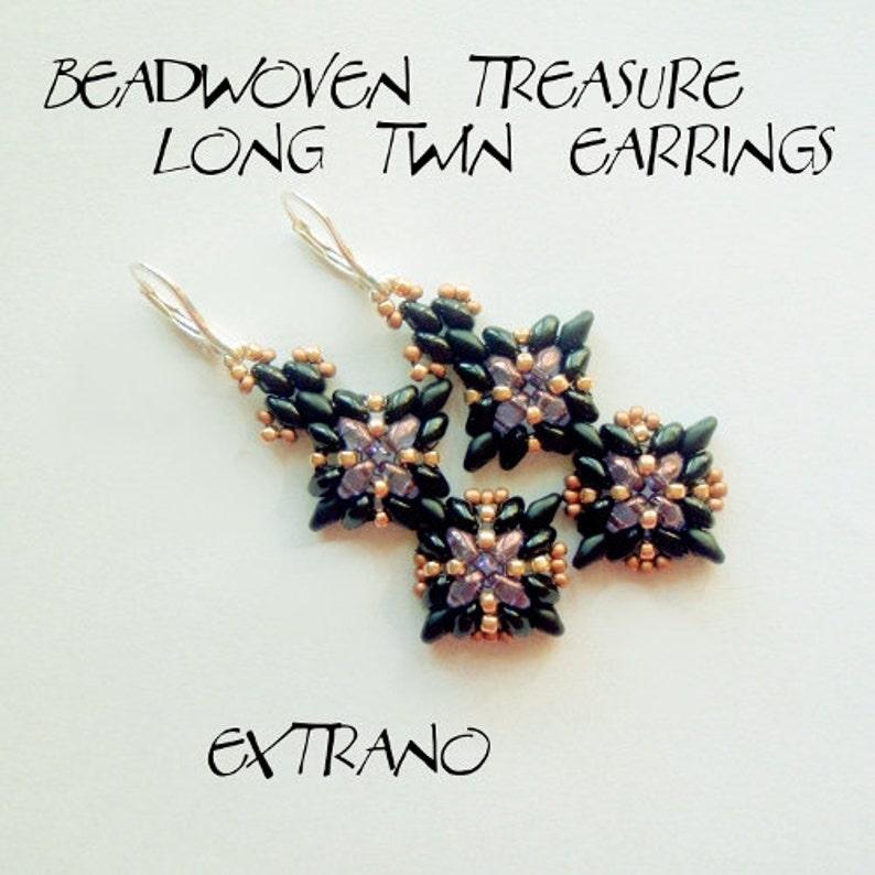 Superduo earrings tutorial long earrings tutorial earrings image 0