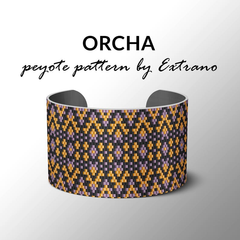 Peyote Bracelet Pattern by Extrano  ORCHA  Caleidoscope of image 0