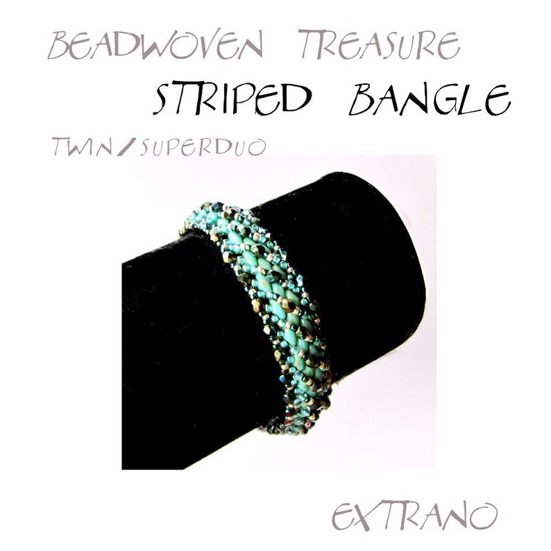 Bangle tutorial bracelet pattern Superduo bracelet superduo image 0