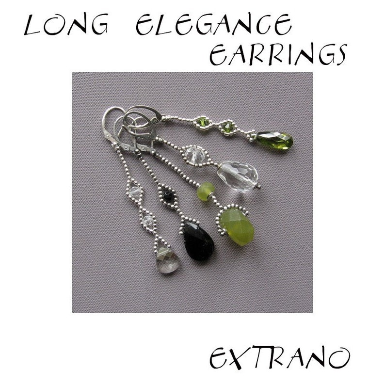 Long earrings tutorial extra long earrings tutorial beaded image 0