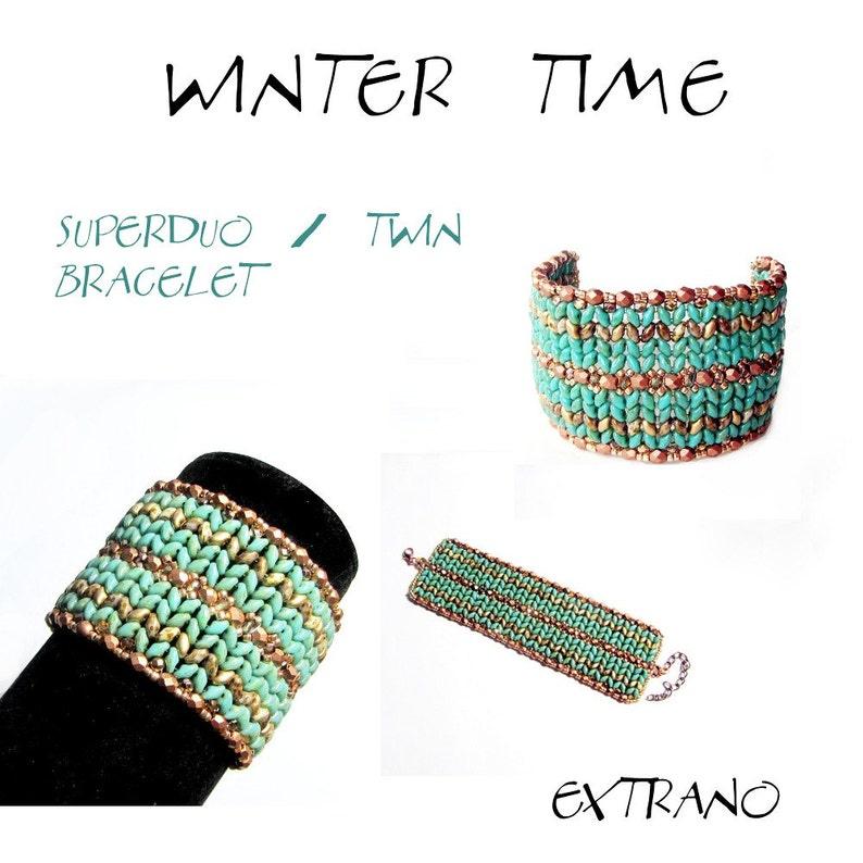 Bracelet tutorial bracelet pattern Superduo bracelet image 0