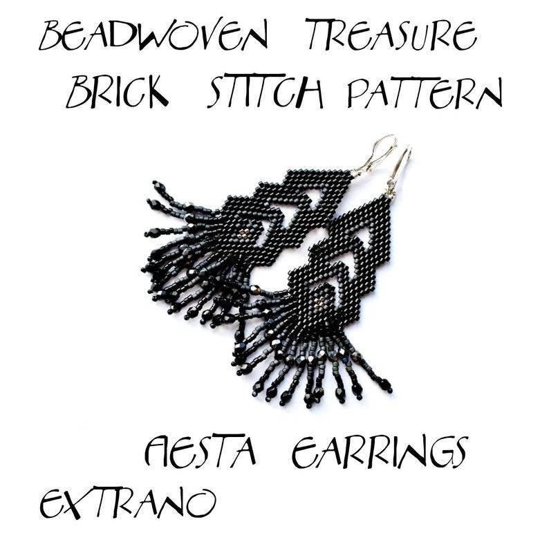 Fringed earrings pattern boho style jewelry tutorial lacy image 0