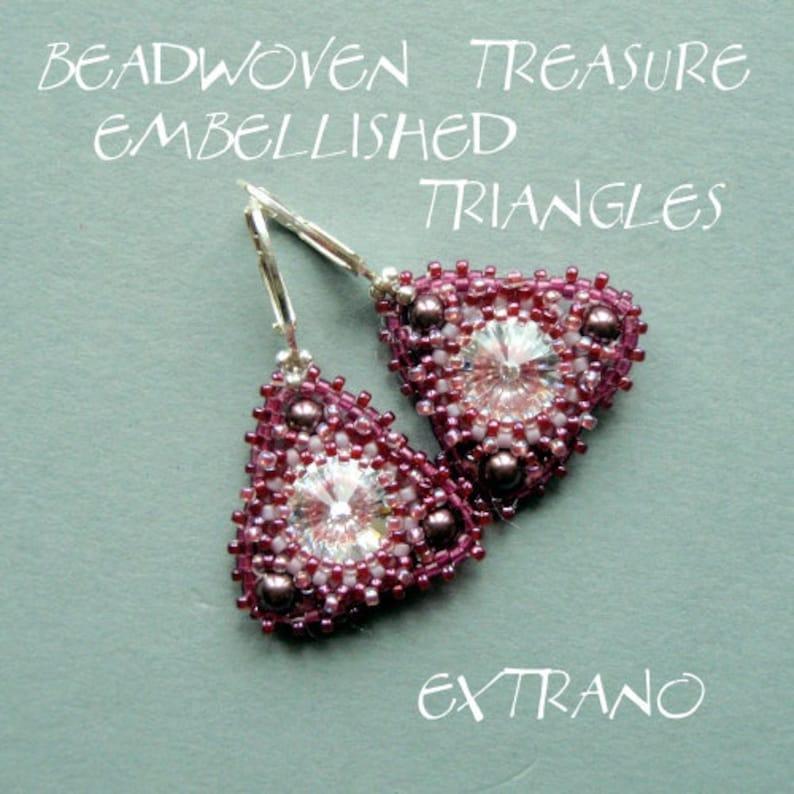Rivoli earrings tutorial round earrings pattern rivoli image 0