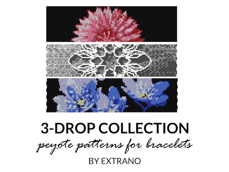 3-drop peyote bracelet patterns even peyote pattern 3-drop image 0