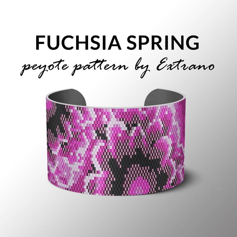Peyote bracelet pattern uneven peyote pattern mosaic peyote image 0