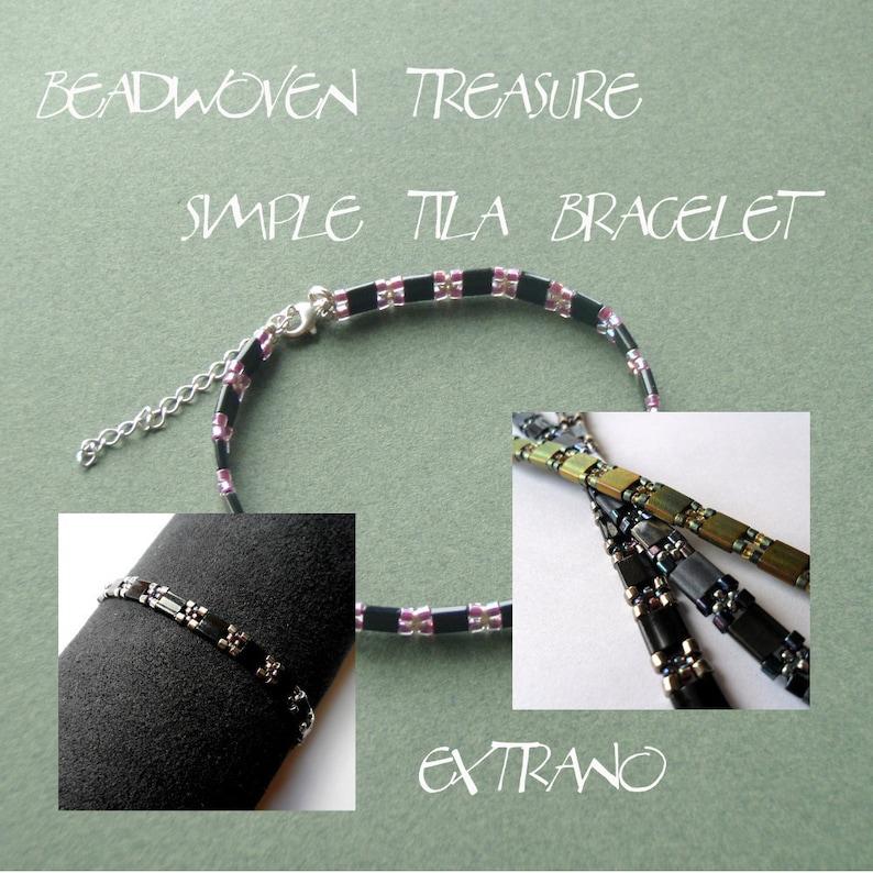 Bracelet tutorial bracelet pattern Tila bracelet Tila beads image 0