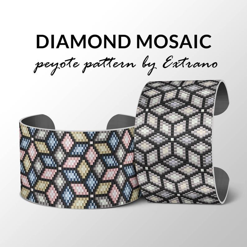 Bracelet peyote pattern peyote bracelet uneven peyote stitch image 0