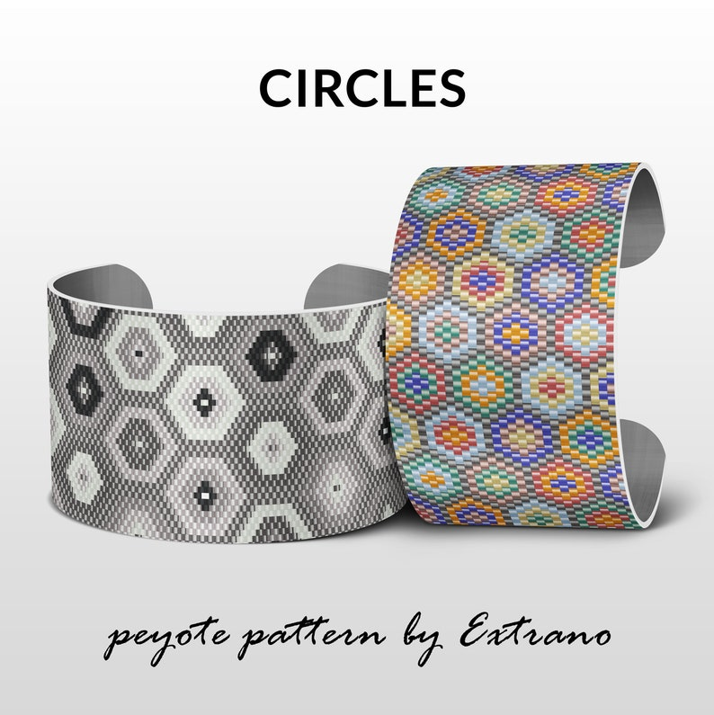 Peyote bracelet patterns wide cuff patterns uneven peyote image 0