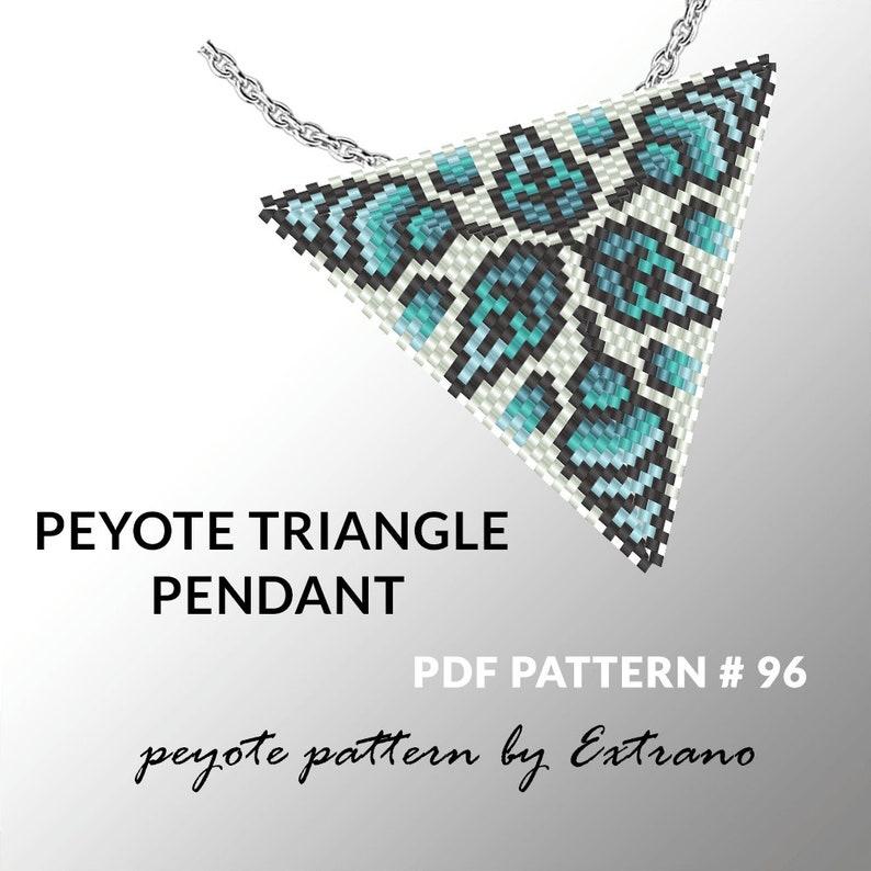 Peyote triangle pattern with instruction native peyote image 0