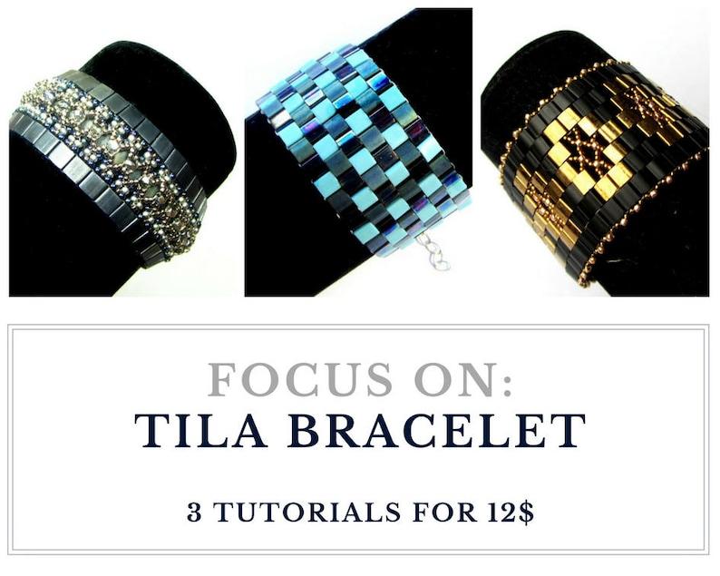 Beading tutorial for bracelet TILA BRACELET tutorial elegant image 0
