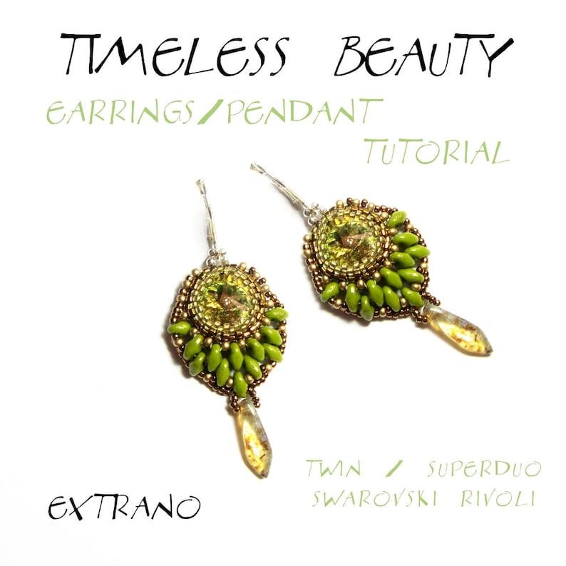 Superduo earrings tutorial rivoli earrings earrings image 0