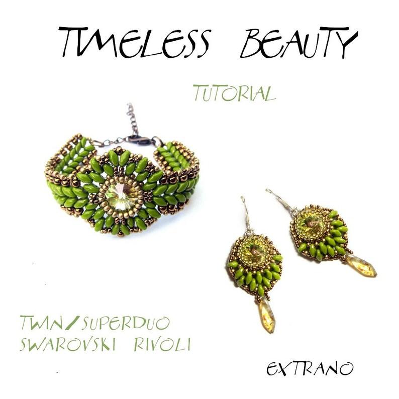 TUTORIAL  Bracelet Earrings Twin Superduo Rivoli  TIMELESS image 0