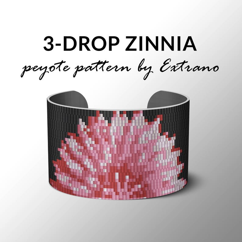 3-drop Even peyote pattern Peyote pattern bracelet pattern image 0