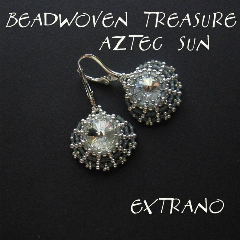 Rivoli earrings tutorial aztec earrings fan shaped jewelry image 0