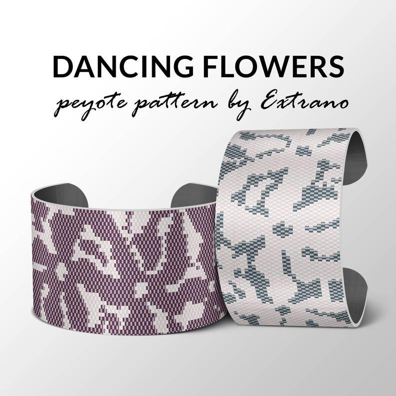 Peyote Bracelet Patterns by Extrano  DANCING FLOWERS  2 image 0