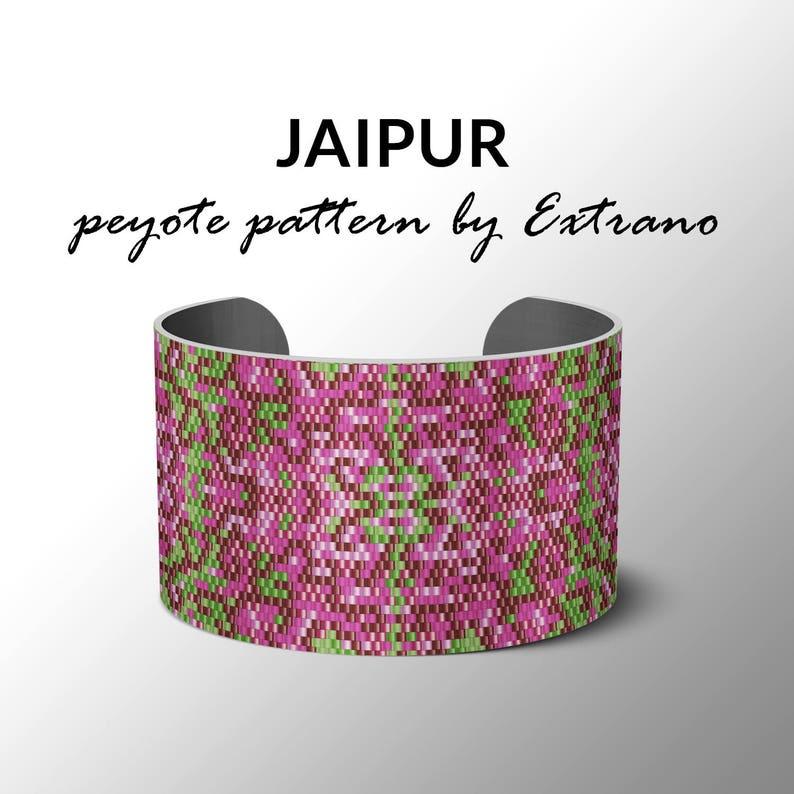 Peyote bracelet pattern uneven peyote pattern mosaicpeyote image 0