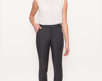 Women's lace detail black, navy or offwhite sleeveless blouse. Comfortable viscose fabric. Semi loose fit. round neckline