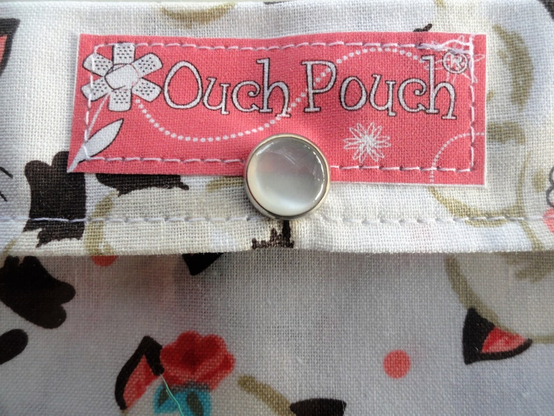 SALE Clearance Zebra Ouch Pouch Medium 5x7 Clear Front First Aid Diaper Bag Purse Travel Organizer Toddler Girl Zoo Animal Beach Bag
