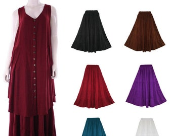 Women BOHO Gypsy Long Maxi Tiered Skirt XL 1X 2X 3X 18 20 22