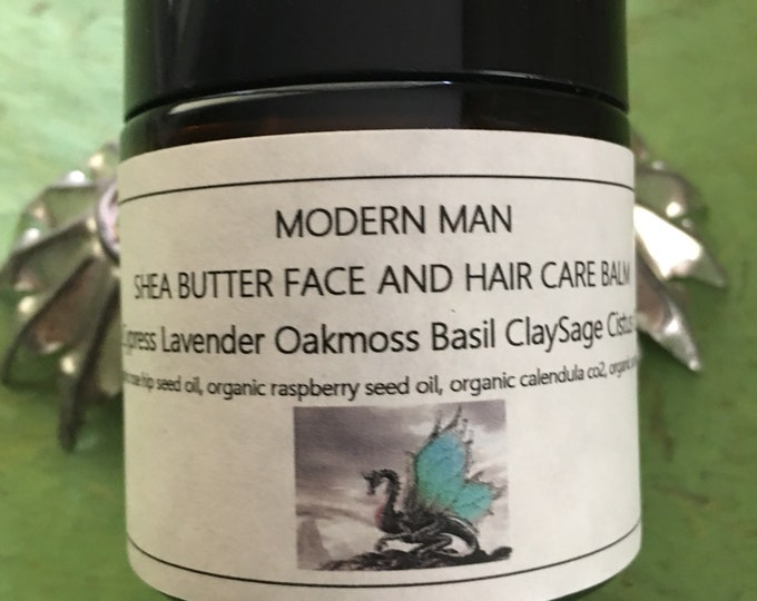 Modern Man Shea Butter Cream with raspberry  and calendula oils skin care delicious
