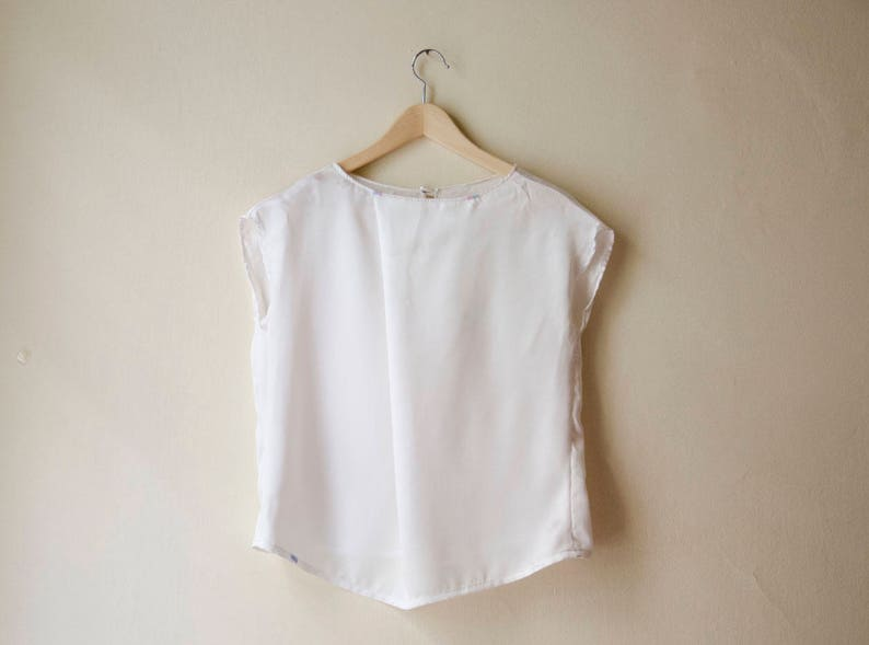 White Top Silver Blouse Available in Plus sizes and Many Colors Satin Asymmetric Blouse Black Silk Top