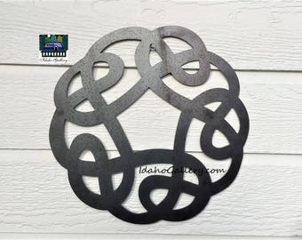 Celtic Knot Anniversary Gift Wedding Gift Metal Art Rustic Garden Symbol Art  Yard Art Wall Art Indoor Outdoor Natural Steel Art IdahoGallery
