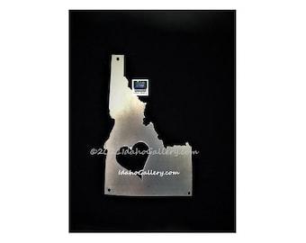 Idaho Heart, Love Idaho, Idaho State Sign, Metal Art,Rustic Yard/Wall Art, Outdoor/Indoor Nature Steel Art Gift for Him/Her,Free Ship Option