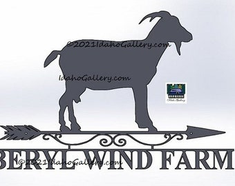 Goat Farm Sign Custom Signs Animal Lover Metal Art Rustic Yard Wall Art Gift Out/Indoor Nature Steel Art Gift for Him/Her with Free Shipping