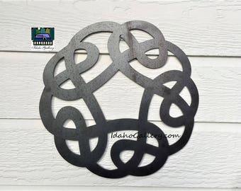 Celtic Knot Anniversary Gift Wedding Gift Metal Art Rustic Garden Symbol Art Yard Art Wall Art Indoor Outdoor Natural Steel Art IdahoGallery