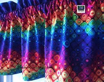 "Rainbow Fantasy Forest Valance Teacher Classroom Daycare PreSchool Valance Kitchen Curtain Short Curtain 11"" x 41"" Wide at Idaho Gallery"
