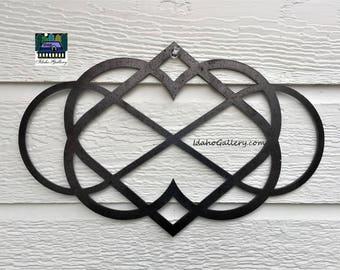 Metal Sign Symbol Wedding Gift Metal Art Infinite Heart Rustic Garden Art Yard Art Wall Art Indoor Outdoor Natural Steel Art Idaho Gallery