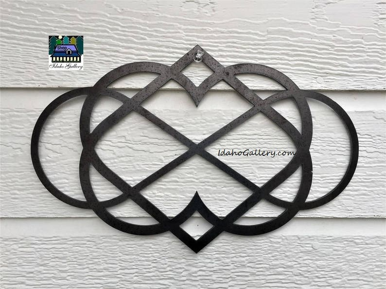 Infinite Heart Metal Sign Love Symbol Wedding Gift Metal Art image 0