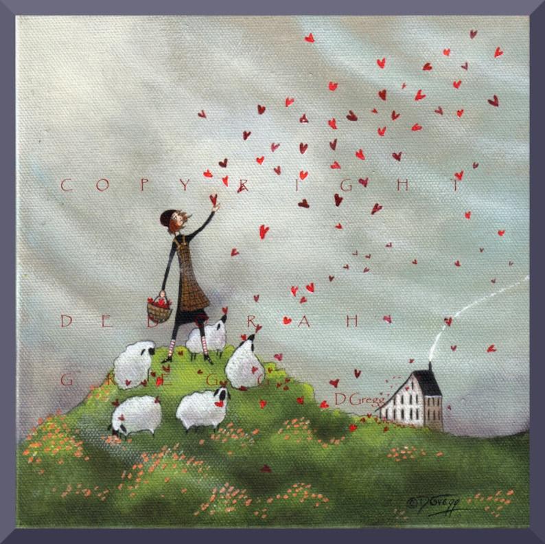 Where She Goes Love Follows a small Hearts Love Sheep image 0