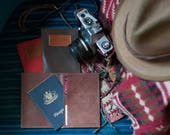 WILD HIDE RANGE Kangaroo Leather Passport Wallets w Plaque ready for personalising.