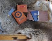 WILD HIDE RANGE Kangaroo Leather Passport Wallets w Hand Laced Design